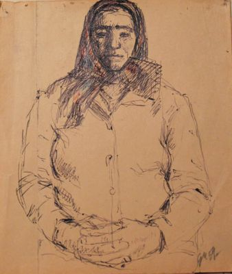 Works on Paper - Woman