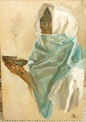 Select Sold Works: Ekaterina Morgun - Woman with Incense