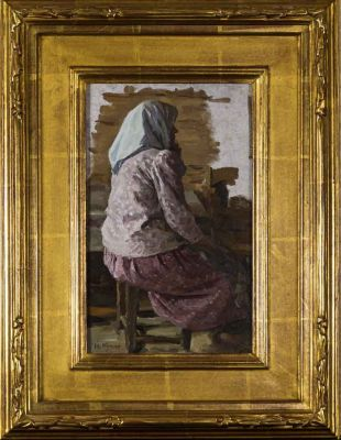 Yuri Kugach - Sitting Old Woman