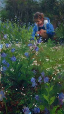 Select Sold Works: Marci Oleszkiewicz - Bluebells