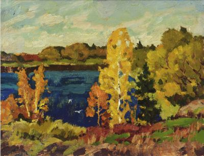 Sold Works: Evgeni Chuikov - Lake