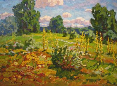 Sold Works: Evgeni Chuikov - Field in Bloom