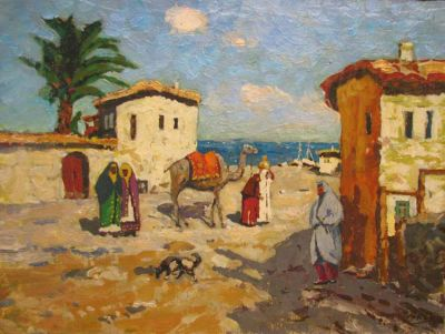 Sold Works: Evgeni Chuikov - Old Village by the Sea