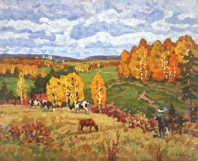 Sold Works: Evgeni Chuikov - In the Meadow