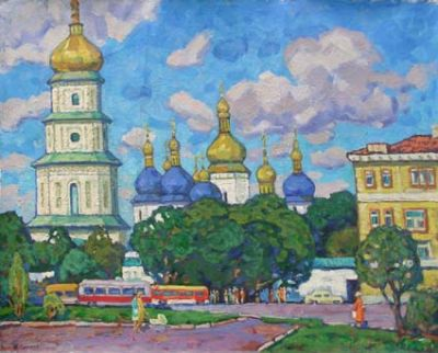 Sold Works: Evgeni Chuikov - Sophia Cathedral, Kiev