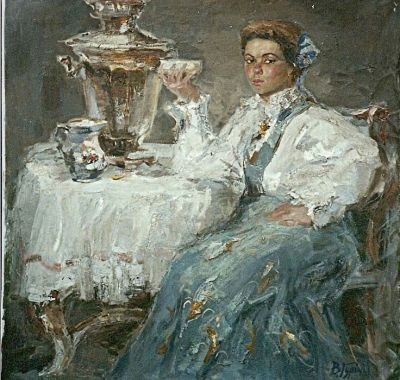 Sold Works: Vasili Gurin - Tea Time