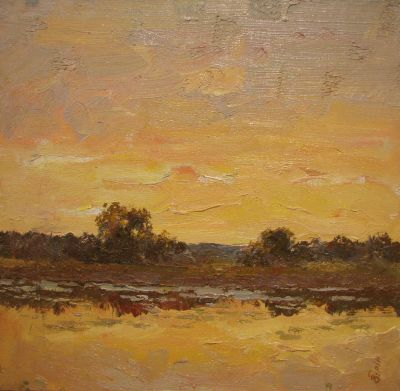 Sold Works: Vasili Gurin - Golden Evening