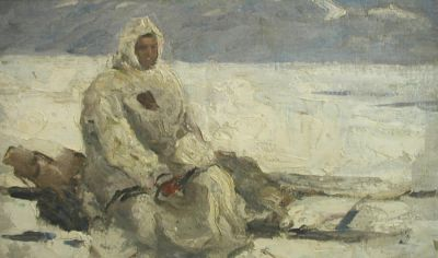Enver Ishmametov - Chukcha on the Sled, 1961