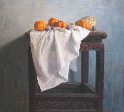 Sun Jun - Side Table with Persimmons