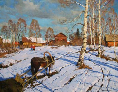 Select Sold Works: Alexander Kremer - In the Village