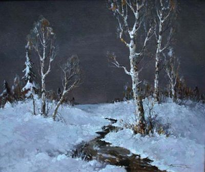 Select Sold Works: Alexander Kremer - Last Snow