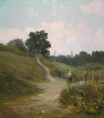 Sold Works: Vladimir Krantz - A Country Path