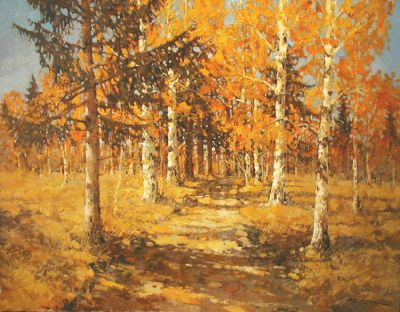 Select Sold Works: Alexander Kremer - Autumn Road