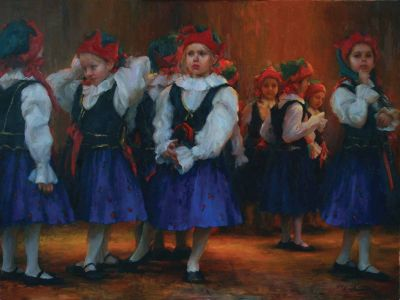 Select Sold Works: Marci Oleszkiewicz - Dress Rehearsal