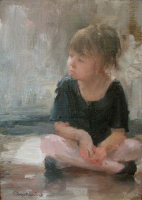 Select Sold Works: Marci Oleszkiewicz - Little Ballerina VII