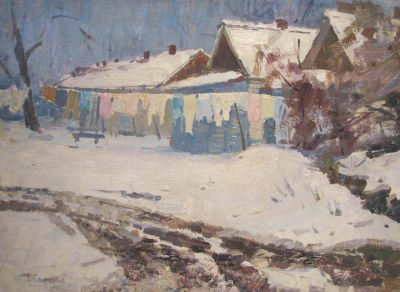 Boris Spornikov - Clothes Drying, Sedneva