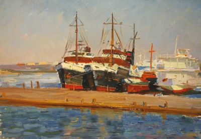 Sold Works: Boris Spornikov - Dnieper River