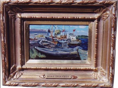 Sold Works: Boris Spornikov - Boats in Riga