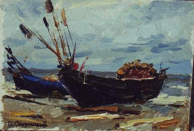 Sold Works: Boris Spornikov - Baltic Fishing Boats
