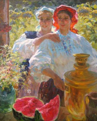 Sold Works: Vasili Gurin - Summer Celebration
