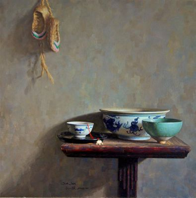Sun Jun - Still Life with Straw Sandals