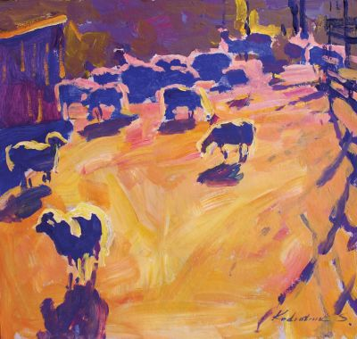 Sergei  Kondratyuk - On the Sheep Pasture
