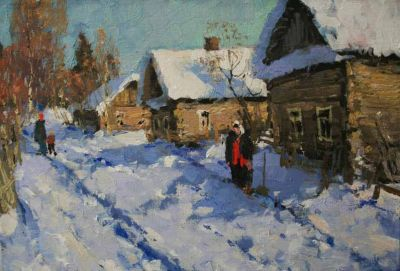 Select Sold Works: Alexander Kremer - Snowy Day