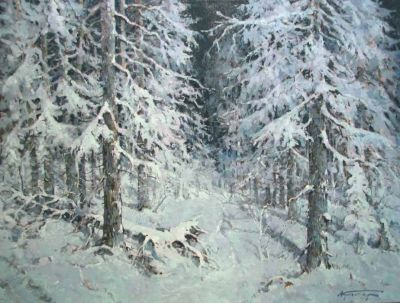 Select Sold Works: Alexander Kremer - Moonlit Forest