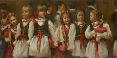 Select Sold Works: Marci Oleszkiewicz - A Polish Christmas