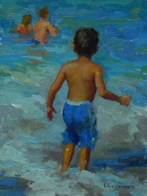 Select Sold Works: Marci Oleszkiewicz - At The Beach