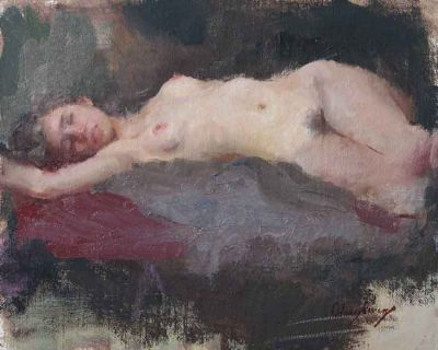Select Sold Works: Marci Oleszkiewicz - Reclining Nude