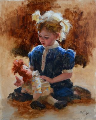 Select Sold Works: Marci Oleszkiewicz - Baby Doll