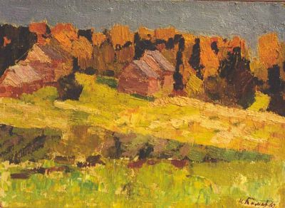 Sold Works: Nikolai Timkov - Autumn at the Academic Dacha