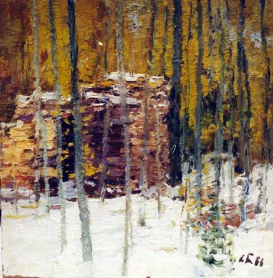 Sold Works: Nikolai Timkov - Woodpile
