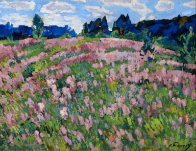 Sold Works: Nikolai Timkov - Fields in Bloom