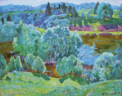 Sold Works: Nikolai Timkov - Summer by the River