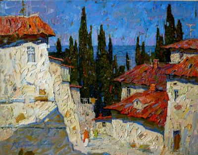 Artem Tolstukhin - Cypress and Blue