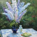 Pavel Markov - In the Garden, Delphiniums